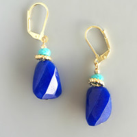 Lapis Lazuli Turquoise Earrings