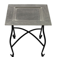 Square Moroccan Table Silver One Size For Women 27549514001