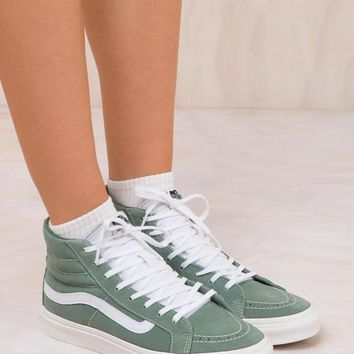 VANS SK8-HI Sea Spray/True White Slim Retro Sport Sneaker