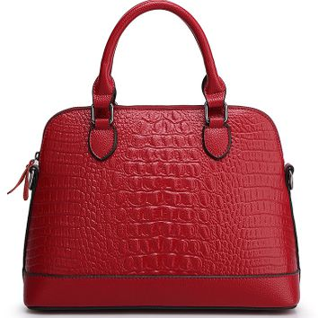 Alligator Faux Leather Bag Tote for Women