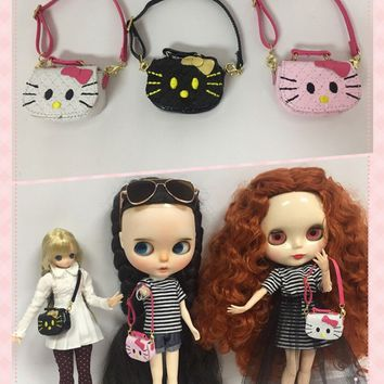 blyth Doll bag suitable for 1/6 doll ,licca doll Azone ,etc  hello kitty bag