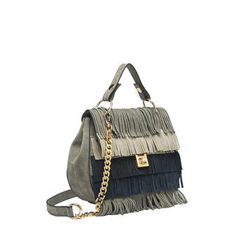 Meadow Fringe Bag Grey