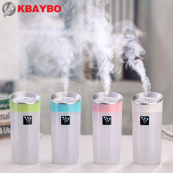 300ML USB Car Humidifier Mini Aroma Essential Oil Diffuser