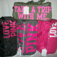 NWT Victoria's Secret Pink Travel Wheelie Luggage Bags (3 Piece Set)