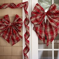 PLAID RIBBON OUTDOOR DECOR