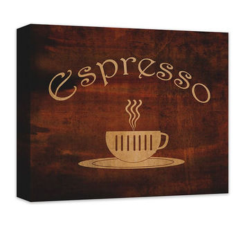 Espresso Cup Word Art Canvas Wall Art