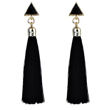 Womens Trendy Long Tassel Dangle Earrings