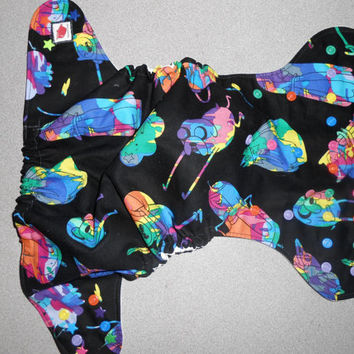 Full One Size Rainbow Adventure Time Pocket Diaper