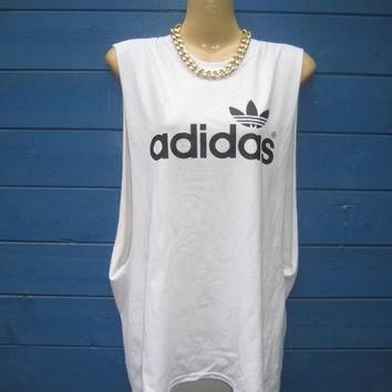 retro old skool adidas long slouchy tshirt minidress hipster swag grunge trash ibiza