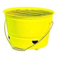 Portable Barbecue BBQ Bucket Grill Yellow