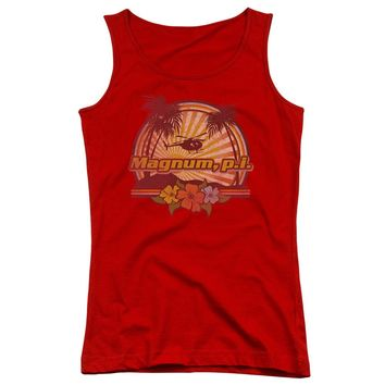 Magnum Pi - Hawaiian Sunset Juniors Tank Top