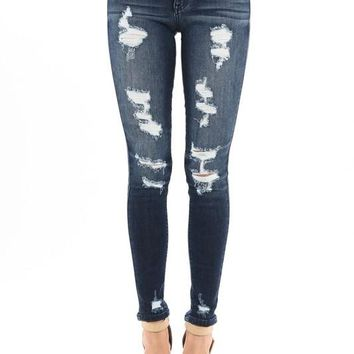 The Best Kan Can Distressed Skinny Jeans