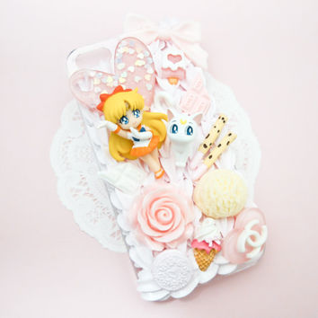 MADE TO ORDER Sailor Venus Sweets Pink Whip Cream Handmade Custom iPhone Samsung Decoden Case