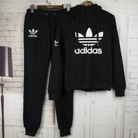 Adidas Sleeve Shirt Sweater Pants Sweatpants Set Two Piece Sportswear