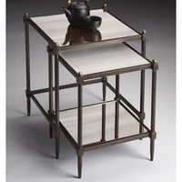 Butler Square Nesting Tables - Metalworks (Set of 2) | www.hayneedle.com