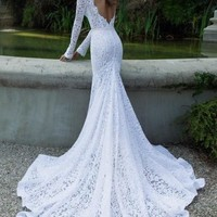 2013 Sexy lace Wedding dress Custom all Size: 2-4-6-8-10-12-14-16-18-20+