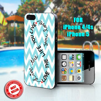 Love Life Infinity - Print on Hard Case - Fit For iPhone 4,4S, and 5 - Please leave a message for your iPhone Case & Color Case