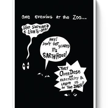 Zoo Animal Conversation During Earth Hour Poster