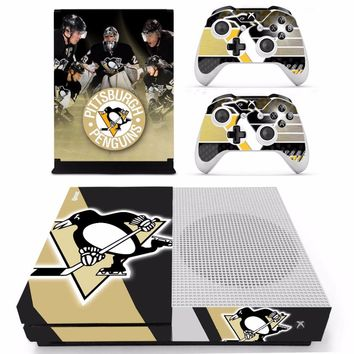 NHL Pittsburgh Penguins Skin Sticker Decal For Xbox One S Console and Controllers for Xbox One Slim Skin Stickers Vinyl