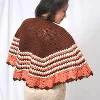 crochet shawl, crochet poncho, crochet cape, pink shawl, white shawl, brown shawl, triangle shawl,Womens shawl, Womens wrap, Shawl