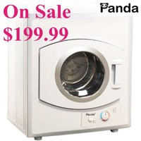 Panda Portable Compact Cloths Dryer Apartment Size 110v stainless Steel Drum See Through Window8.8lbs Capacity/2.65 cu.ft