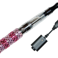 Rechargeable Pink Stripe Diamond Shisha / Hookah Pen