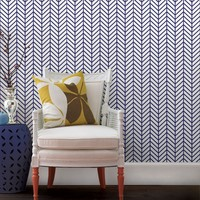Herringbone Line Wallpaper - Peel and Stick