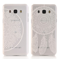 Transparent Hard PC Cover for Samsung Galaxy A3 A5 A7 2016 J5 S7 S6 Edge S5 S4 mini Damask Paisty Paisley Flower Cases Retro