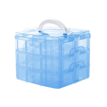 3 Layers Detachable Jewelry Box Transparent Portable Storage Container Organizer Tools Box Case Boxes SM6