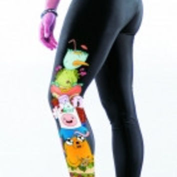 Cute Cartoon Print Stretch Yoga Leggings