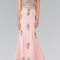 The Gwen Hand Bead Embellished Prom Event Gown