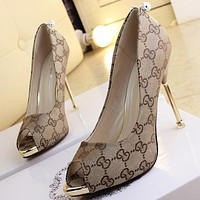 GUCCI Women Fashion Heels Shoes