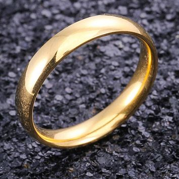 4mm Gold Stainless Steel Ring