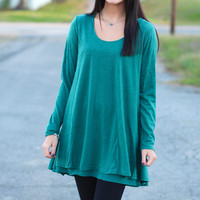 Double Trouble Layered Tunic {Green}