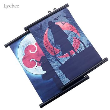 Lychee Anime Naruto Wall Scroll Poster Hanging Wall Scroll Painting Canvas Wall Poster Art Decor Poster