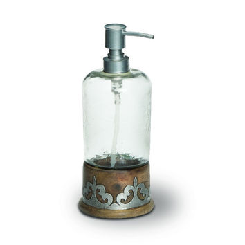 Wood and Metal Soap Dispenser