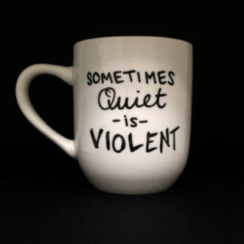 "Twenty One Pilots Car Radio ""sometimes quiet is violent"" lyrics mug"