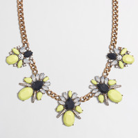 Factory crystal clusters chain necklace