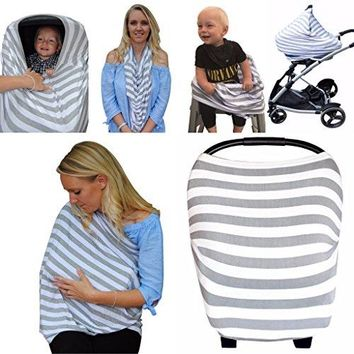 Multi-Use Nursing Breastfeeding Cover, Soft Stretchy Baby Car Seat Canopy,Stroller,High Chair,etc