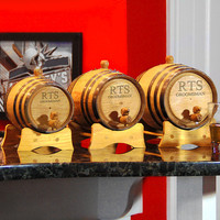 Fast Shipping -Personalized Bluegrass Mini Whiskey / Wine Barrels-home bar, groomsmen gift, Father's, Birthday, Christmas