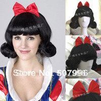 halloween cosplay costume for women snow white princess black wigs D-1055