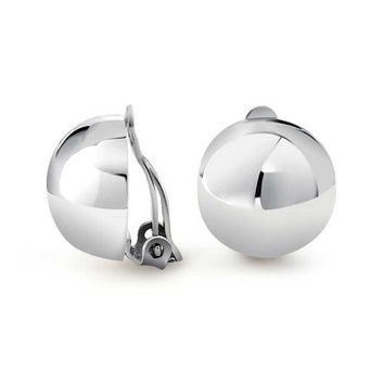 Bling Jewelry Sterling Silver Half Bead Ball Clip On Earrings Alloy Clip