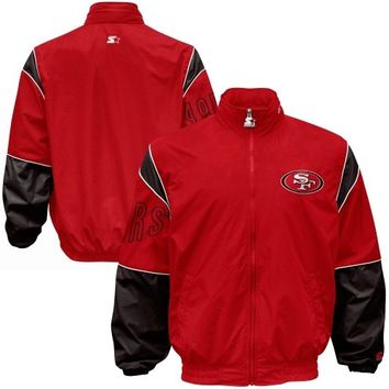 Starter San Francisco 49ers Gust Full Zip Jacket - Scarlet
