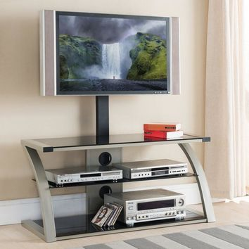 TV Stand Metal and Glass By Home Source