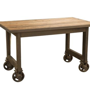 Fiumicino Industrial Modern Counter Table Recycled Wood