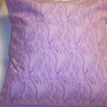 Decorative Pillow Cover, Throw pillow Cover Single ,18 x 18 Light Purple and White Swirl,