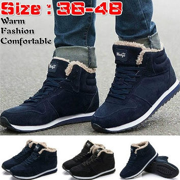... 04cc4 1688a 2017 Fashion Men Women Winter Snow Boots keep Warm Boots  Plush Ankle boot Snow ... e87d85a7a
