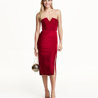 H&M Bandeau Velvet Dress $59.99