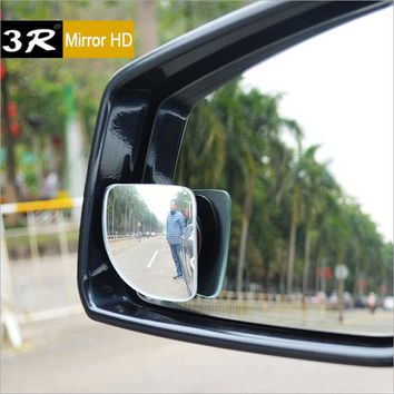 2pcs Sector Car Rearview Mirror Adjustable Visual Convex Surface Rimless Rearview Mirror Covers Wide Angle Round Convex mirror