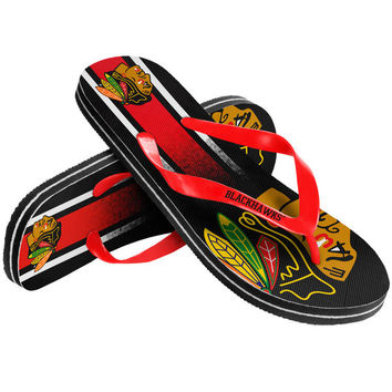 Chicago Blackhawks Gradient Flip Flops